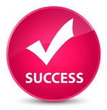 Success (validate icon) elegant pink round button Royalty Free Stock Photography