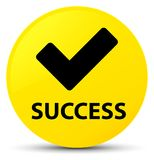 Success (validate icon) yellow round button Stock Photos