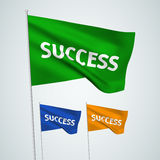 Success - vector flags Stock Photography