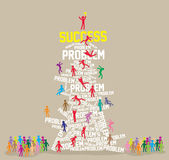 Success vector, Illustration. How to Success, presentation, feel good for business, vector, Illustration Stock Photography
