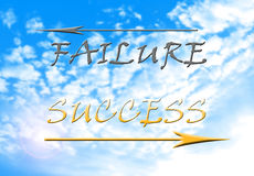 Success versus failure Stock Photography