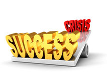 Success victory over crisis. business balance Royalty Free Stock Image
