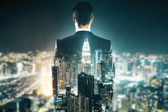 Success and vision concept stock image