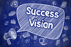 Success Vision - Doodle Illustration on Blue Chalkboard. vector illustration
