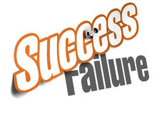 Success vs failure Stock Photo
