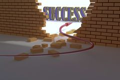 Success wall Stock Photo