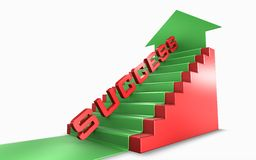Success way. Many stairs and long way to success Stock Images