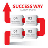 Success way arrow Stock Photography