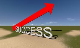 Success. This way.Made in 3d software Royalty Free Stock Image