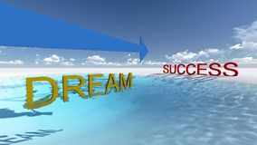 Success this way Royalty Free Stock Image