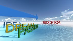 Success this way Stock Photography