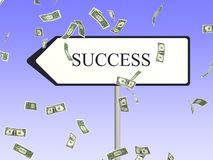 Success way panel Royalty Free Stock Photo