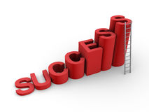 Success way to the top. Success letters as steps and a ladder Royalty Free Stock Photography