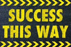 Success this way word Stock Photo