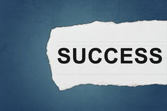 Success with white paper tears Stock Images