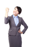 Success winner business woman Stock Photo