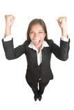 Success / winner business woman isolated stock photo