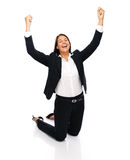 Success winner businesswoman Royalty Free Stock Image
