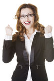 Success, winner businesswoman Stock Photos