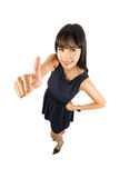 Success woman giving thumbs up sign. Royalty Free Stock Photo
