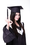 Success Woman graduate student Stock Image