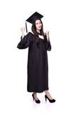 Success Woman graduate student Royalty Free Stock Images