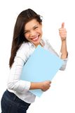 Success woman holding sign Royalty Free Stock Image