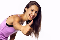 Success woman showing thumbs up Royalty Free Stock Image