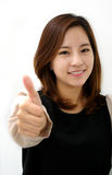 Success woman thumbs up Royalty Free Stock Images