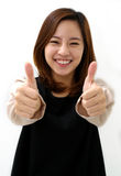 Success woman thumbs up Royalty Free Stock Photo