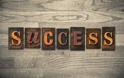Success Wooden Letterpress Theme Stock Photos