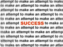 Success word Stock Images