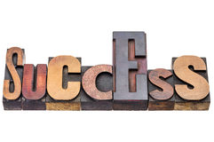 Success word abstract in wood type Royalty Free Stock Photography