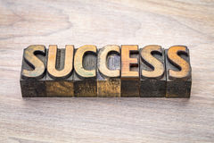 Success word abstract in woodtype. Success word abstract in vintage letterpress woodtype printing blocks Royalty Free Stock Photography