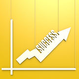 Success word with chart hang on yellow background Stock Photo
