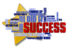 Success Word Cloud Stock Photo