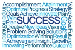 Success Word Cloud royalty free stock photo