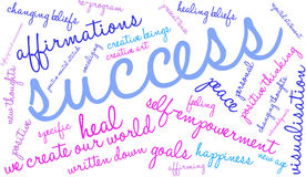 Success Word Cloud Royalty Free Stock Photography