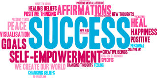 Success Word Cloud Royalty Free Stock Image