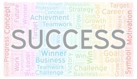 Success word cloud. Wordcloud made with text only vector illustration
