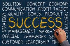 Success Word Cloud Royalty Free Stock Images