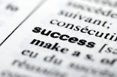 Success word in Dictionary, close up Stock Image