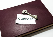 Success word and key. On diary Royalty Free Stock Image