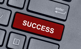 Success word on keyboard. Computer Stock Image
