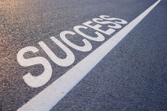 Success Word With Line stock photo