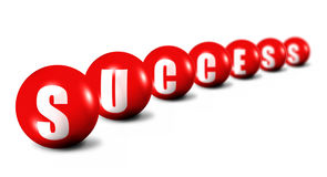 Success word made of spheres Royalty Free Stock Photography