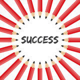 Success word with pencil background stock vector Royalty Free Stock Photography