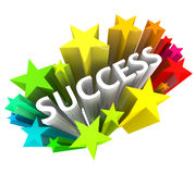 Success - Word Surrounded by Colorful Stars Stock Images