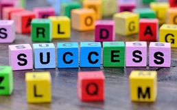 Success word on table Royalty Free Stock Photography