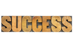 Success word typography Royalty Free Stock Images
